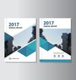 Blue annual report Leaflet Brochure Flyer vector image vector image