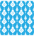 Blue ikat seamless pattern vector image vector image