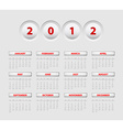button calendar 2012 vector image