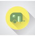 Camping trailer icon Caravan vector image vector image