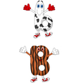 Cartoon alphabet B