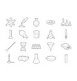 chemistry tools icon set outline style vector image vector image