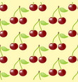 cherry fruit seamless pattern vector image vector image