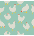 Chicken pattern blue vector image vector image