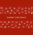 christmas background holiday banner vector image vector image