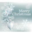 christmas snowflake and decoration background vector image vector image