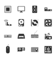 Computer peripherals and parts black and white vector image