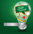 Creative light bulb with back to school concept vector | Price: 1 Credit (USD $1)