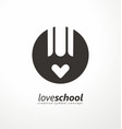 creative symbol idea with pencil and heart vector image vector image