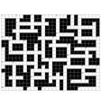 crossword puzzle pattern vector image