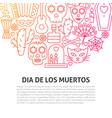 dia de los muertos line concept vector image