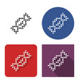 dotted icon candy in four variants with short vector image