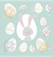 easter bunny - modern colorful celebration vector image vector image