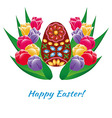 Easter Egg Card With Text vector image vector image