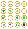 ecology cartoon icon circle vector image vector image