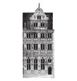 faade of the building a famous ruin in germany vector image vector image