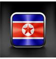 Fabric Flag of North Korea sign symbol icon vector image