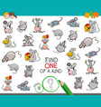 find one of a kind with mouse characters vector image vector image