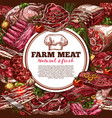 fresh meat poster vector image vector image