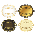 Gold-framed labels vector image vector image