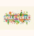 green city french language concept vector image
