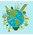 Green world renewable resources vector image vector image