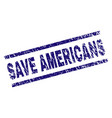 grunge textured save americans stamp seal vector image vector image