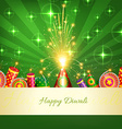 Happy diwali card vector image vector image