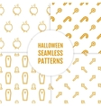 happy halloween set seamless patterns vector image vector image