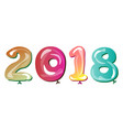 happy new year 2018 with balloon concept vector image vector image