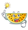 have an idea ripe yellow watermelon isolated on vector image
