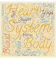 How Yoga benefits the circulatory system text vector image vector image