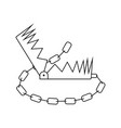 icon of bear hunting trap vector image vector image