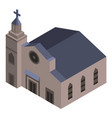 jesus church icon isometric style vector image vector image