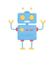 kids toys blue robot cartoon isolated icon design vector image