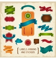 Labels ribbons and stickers vector image