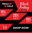 letter black friday sale banner design template vector image vector image