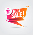 limited big offer mega sale banner special offer vector image vector image