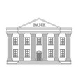 line bank building icon bank isolated on vector image vector image