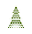 merry christmas tree with triangle shape vector image vector image