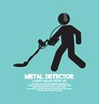 Metal Detector Black Graphic Symbol vector image vector image