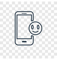mobile phone concept linear icon isolated on vector image