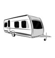modern caravan trailer for travel vector image