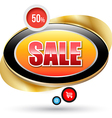 Modern sale badge with gold frame vector image