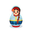 nesting doll traditional russian wooden vector image