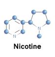 nicotine vector image
