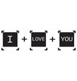 Polaroid I love You vector image vector image