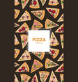 poster flyer or menu cover template with pizza vector image vector image
