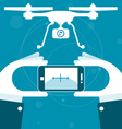 Quadrocopter remote control from smartphone vector image vector image