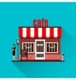 Restaurant or cafe in flat style vector image vector image